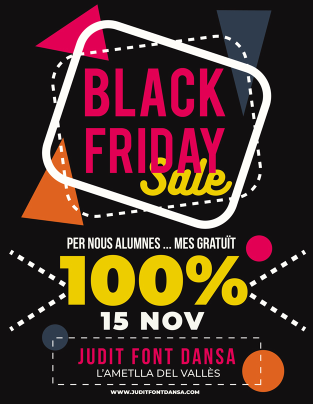 Oferta Black Friday a Escola de dansa Judit Font